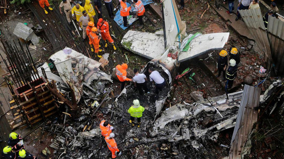 عکس سقوط هواپیما در منطقه سارودی +عکس