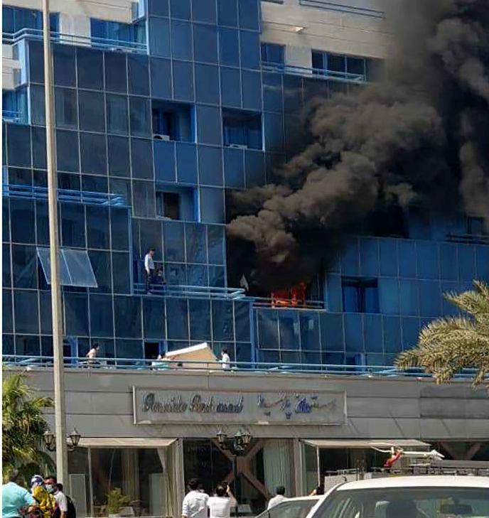 آتش+سوزی+هتل+کیش