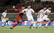 تیم فوتبال امید ایران مقابل اندونزی شکست خورد