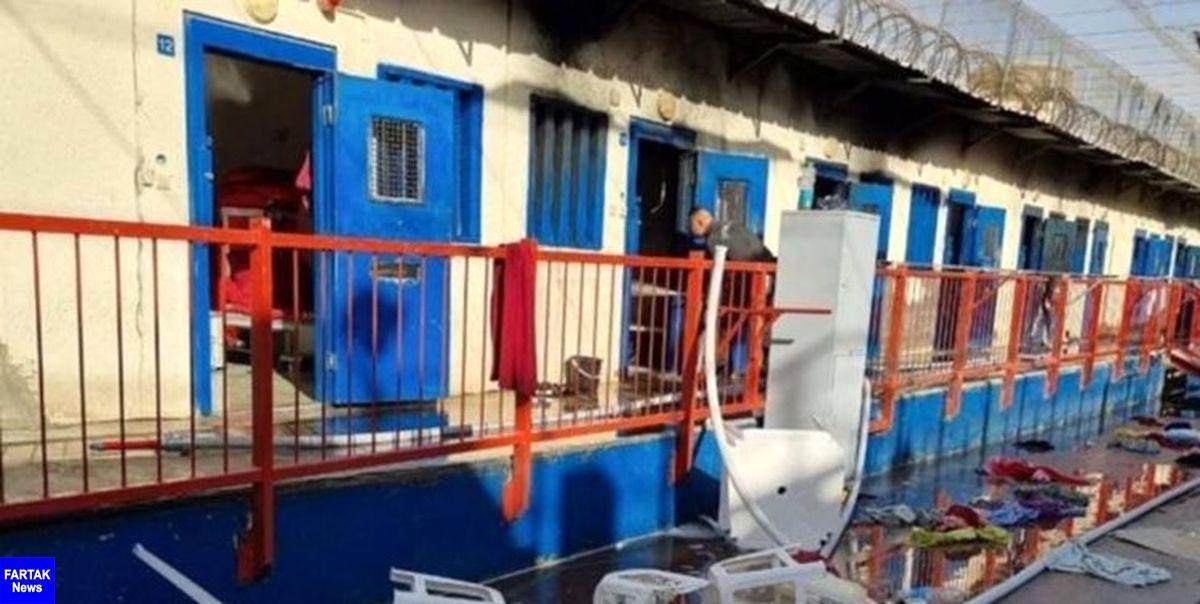 اسرای فلسطینی بار دیگر زندان «رامون» را به آتش کشیدند
