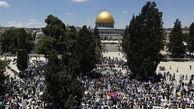 سرازیر شدن دهها هزار فلسطینی به سمت مسجدالاقصی در اولین جمعه ماه رمضان
