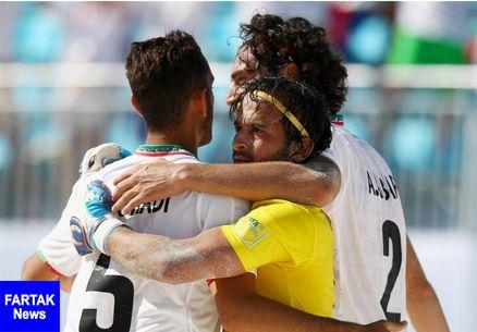 جام بین قارهای فوتبال ساحلی / ایران با غلبه بر روسیه حریف مصر در نیمهنهایی شد