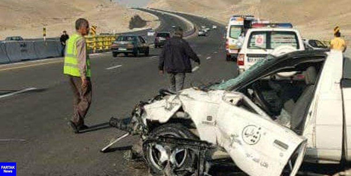 ۲ کشته بر اثر واژگونی خودرو در اتوبان تبریز-سهند