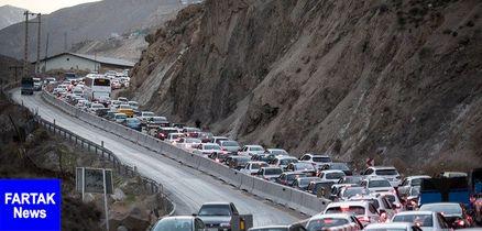 ترافیک سنگین و نیمه سنگین برخی جادههای کشور