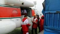 اولین محموله هوایی هلال احمر فارس به خوزستان ارسال شد