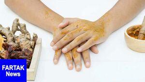 خواص شگفت انگیز زردچوبه بر پوست