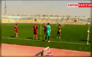لحظاتی از تنیس فوتبال پرسپولیسی ها در تمرین