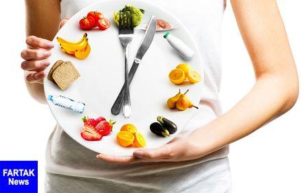 جدول زمان بندی هضم غذاها