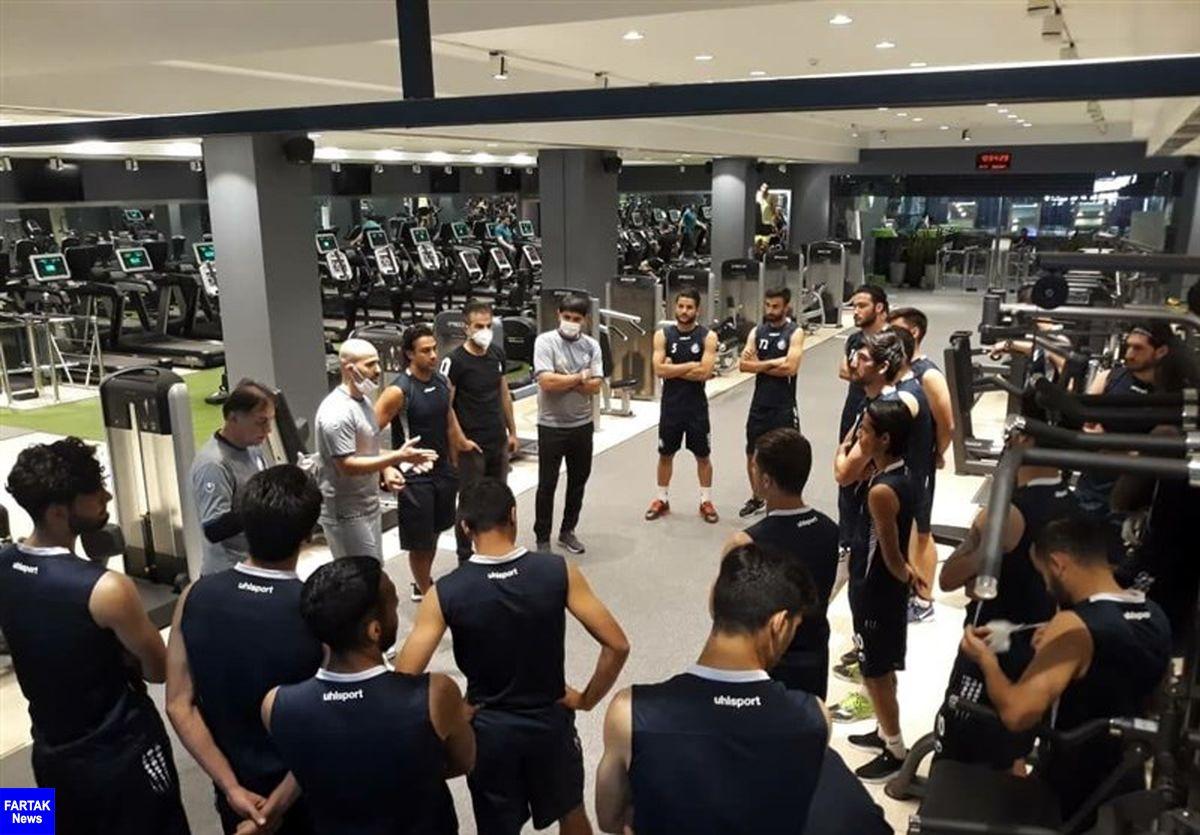 گزارش تمرین استقلال  صحبتهای مجیدی با بازیکنان