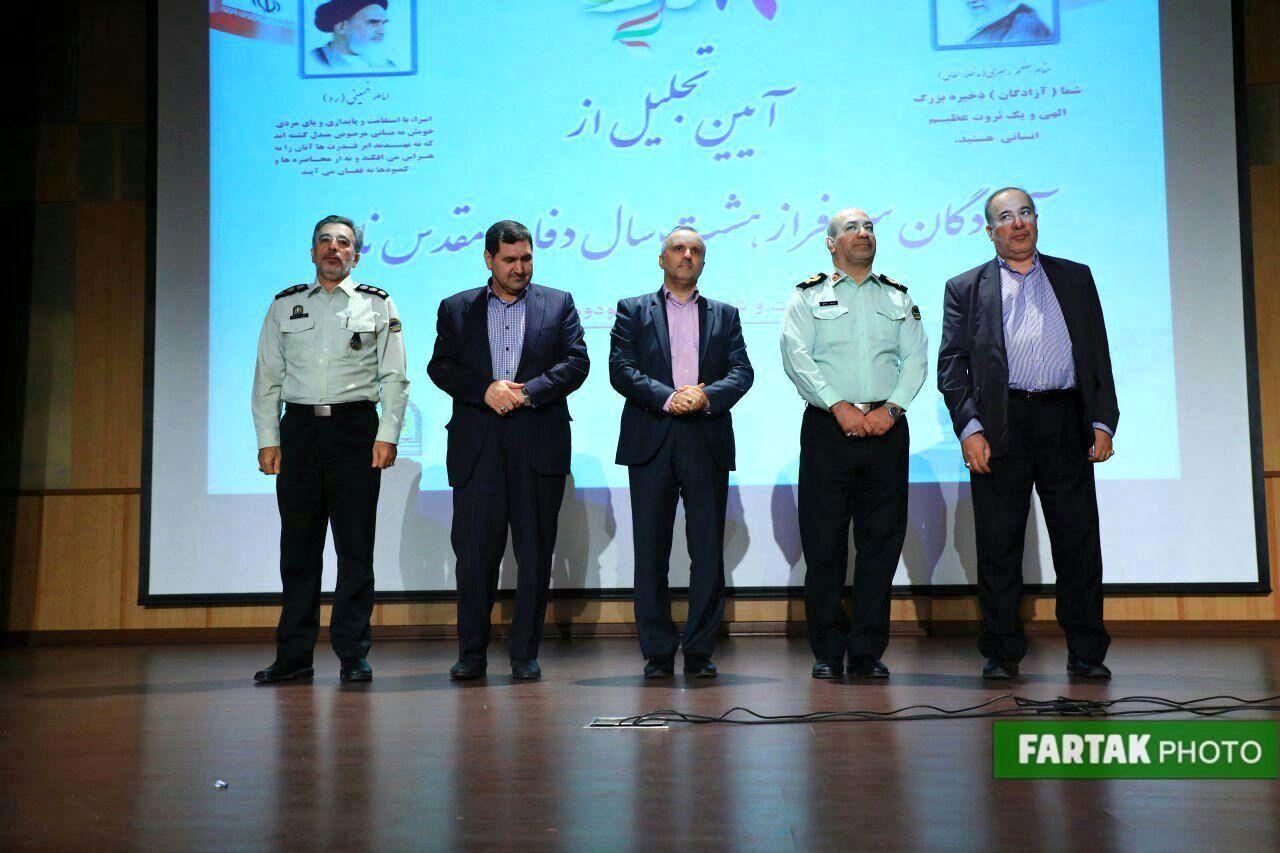 آیین تجلیل از آزادگان ناجا- محمود صلاحی- مصطفی سلیمی