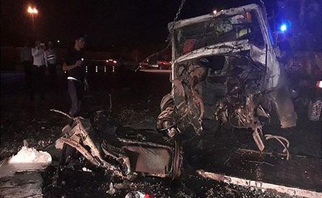 3 کشته و یک مصدوم در اثر لغزندگی جاده تفت-ابرکوه