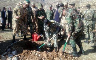 رویداد بزرگ نهالکاری همگانی برای ایرانی سرسبز در منطقه حفاظت شده چالابه شهرستان کرمانشاه(به روایت تصویر)