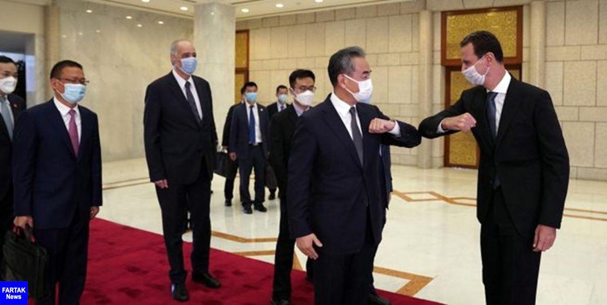 دیدار وزیر امور خارجه چین با رئیس جمهور سوریه