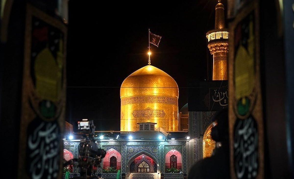 خطبهخوانی شب عاشورای حسینی در بارگاه منور رضوی آغاز شد