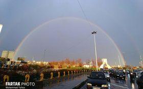 اختصاصی/ تصاویری زیبا از آسمان امروز عصر تهران