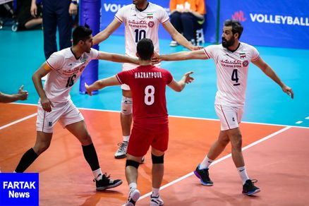 صعود والیبال ایران به دور نهایی لیگ ملتها با پیروزی بر صربستان