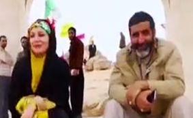 حضور خاله شادونه و حاج حسین یکتا در منطقه سرپل ذهاب + فیلم
