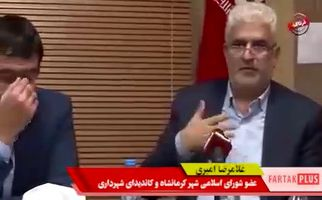 صحبت های مقتدرانه غلامرضا امیری در جلسه شورای شهر + فیلم
