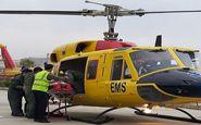 پرواز اورژانس هوایی برای نجات مصدومان حادثه ترافیکی شهداد