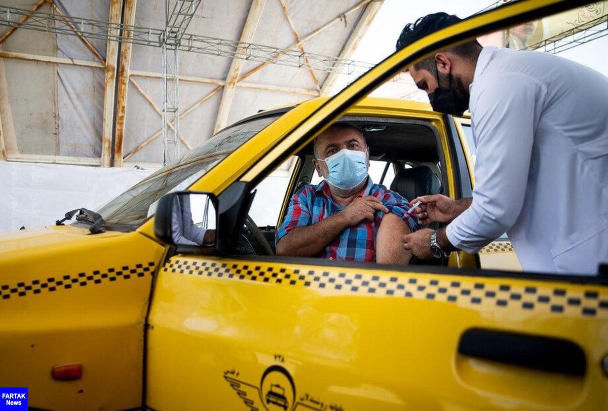 تزریق دز دوم واکسن رانندگان تاکسی کرمانشاه آغاز شد