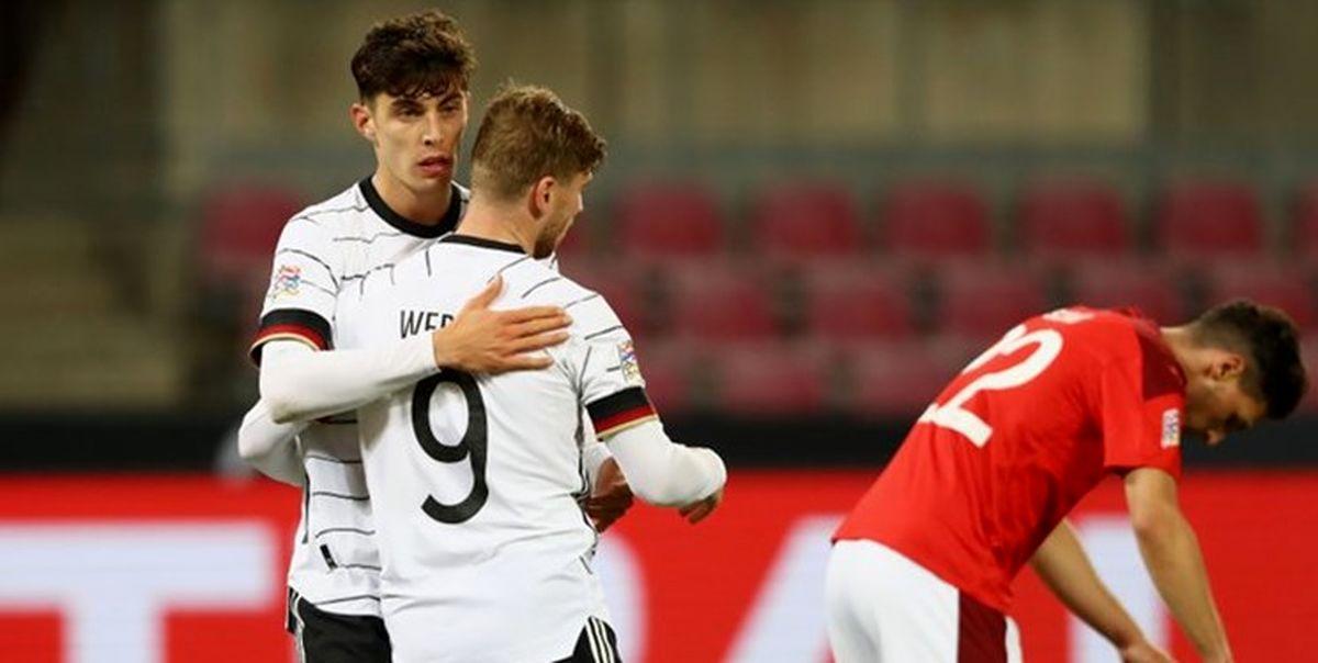 لیگ ملتهای اروپا توقف آلمان مقابل سوئیس/شکست غیرمنتظره اسپانیا مقابل اوکراین