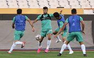 آخرین تمرین تیم ملی پیش از دیدار با بحرین برگزار شد