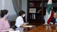 دیدار سفرای آمریکا و فرانسه با رئیس جمهور لبنان