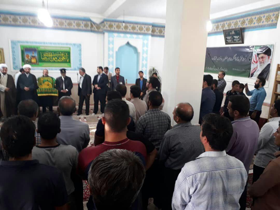 ورود پرچم و کاروان خدام رضوی  به شهرستان کنگاور در جمع استقبال باشکوه مردم