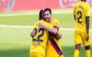 پیروزی بارسلونا در خانه وایادولید با رکوردزنی مسی