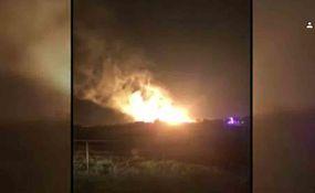 تصاویری از انفجار شدید خط لوله گاز اوکلاهاما در آمریکا