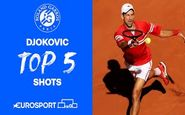 5 ضربه برتر نواک جوکوویچ در مسابقات رولن گاروس2021 + فیلم