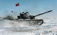 رزمایش زمستانی نیروهای مسلح ترکیه در استان قارص