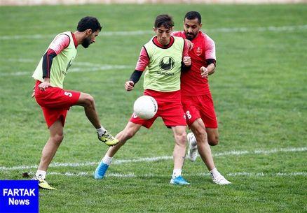 گزارش تمرین پرسپولیس در غیاب هفت بازیکن