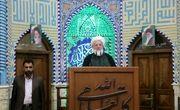 حضور آیت الله ناصری در نماز جمعه یزد با لباس پاسداری