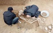 کشف گور جنگاور ۴۰ساله از عصر آهن