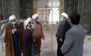 بازدید مدیر کل اوقاف استان کرمانشاه از روند اجرای ساخت و توسعه حرم احمد ابن اسحاق