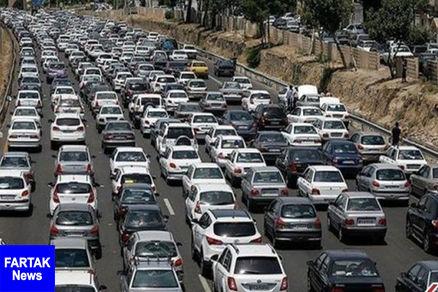 وضعیت ترافیک معابر بزرگراهی تهران در روز اول هفته