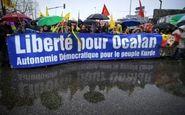 تظاهرات کردها در فرانسه برای آزادی اوجالان