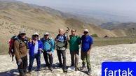 صعودتیم کوهنوردی  سرابله  به قله ۳۵۸۰ متری یخچال