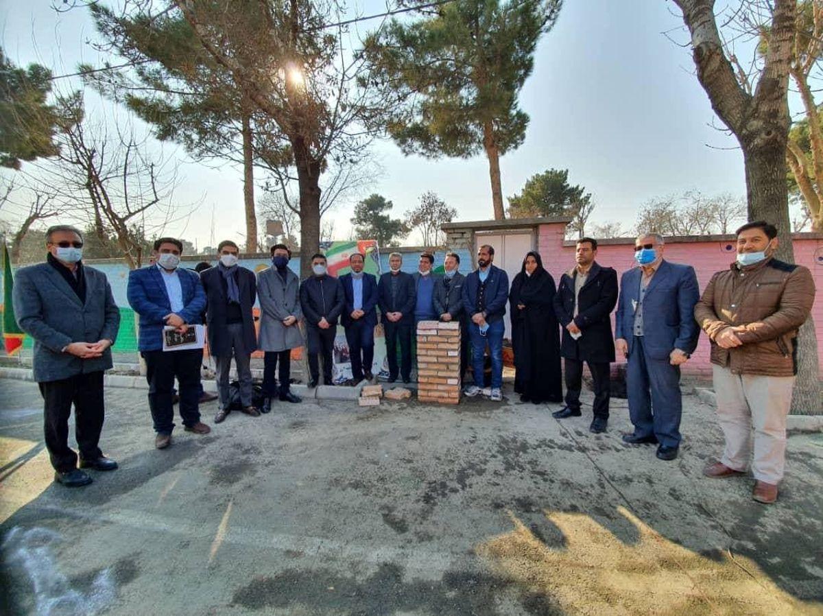 آیین خشتگذاری مدرسه شهید عراقی  در شهر ری