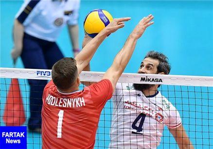شکست والیبال ایران مقابل جوانان روسیه
