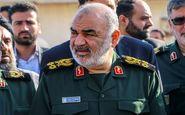 فرمانده کل سپاه پاسداران انقلاب اسلامی از مناطق سیل زده شرق استان هرمزگان بازدید کرد