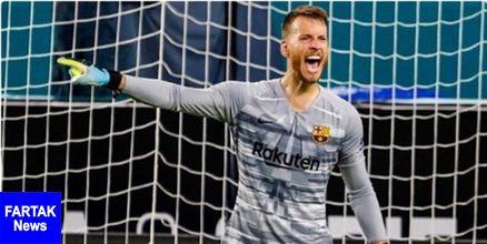ابراز امیدواری گلر دوم بارسلونا به کسب اولین جام