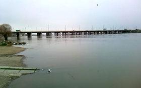بالا آمدن سطح آب رودخانه زرینه رود در میاندوآب + فیلم