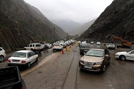 ترافیک نیمه سنگین شامگاهی در محورهای شمالی و منتهی به تهران