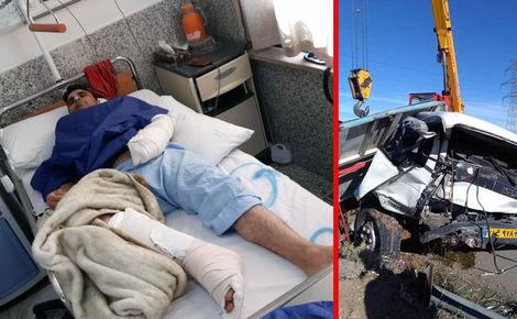 نجات معجزه آسای راننده ایسوز از مرگ در جنوب تهران +تصاویر