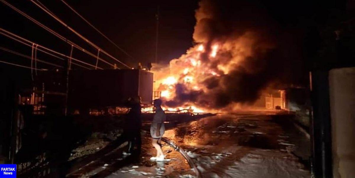 آتشسوزی در نیروگاه تولید برق الناصریه عراق
