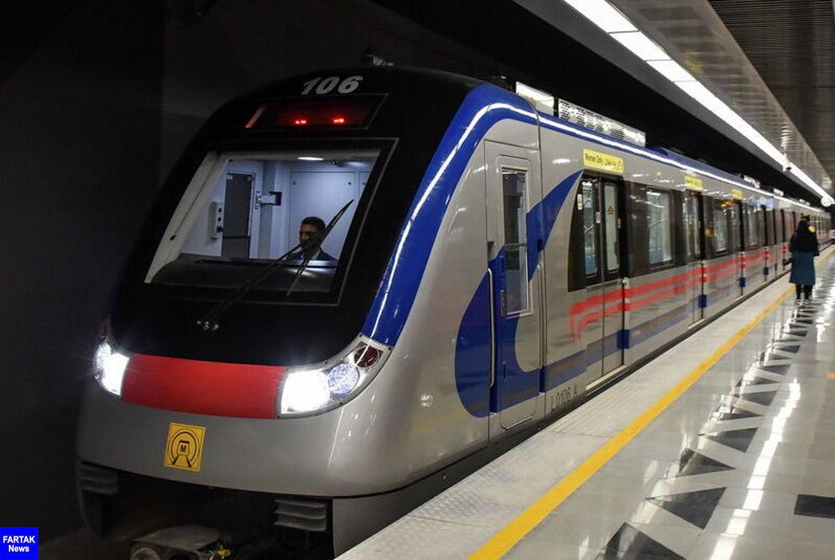 سرفاصله حرکت قطارهای مترو تهران به کرج و برعکس کاهش می یابد