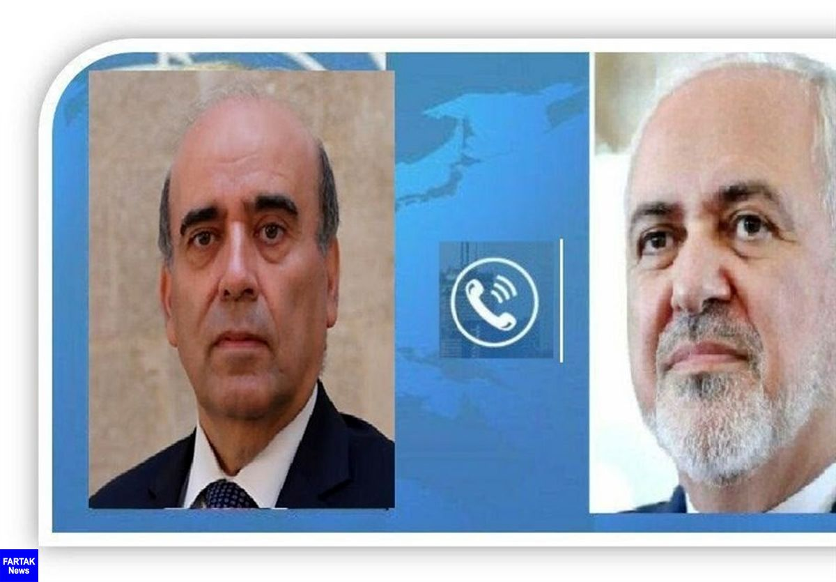 توئیت ظریف پس از گفتگوی تلفنی با همتای لبنانی