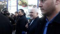 حضور ظریف در راهپیمایی ۲۲ بهمن